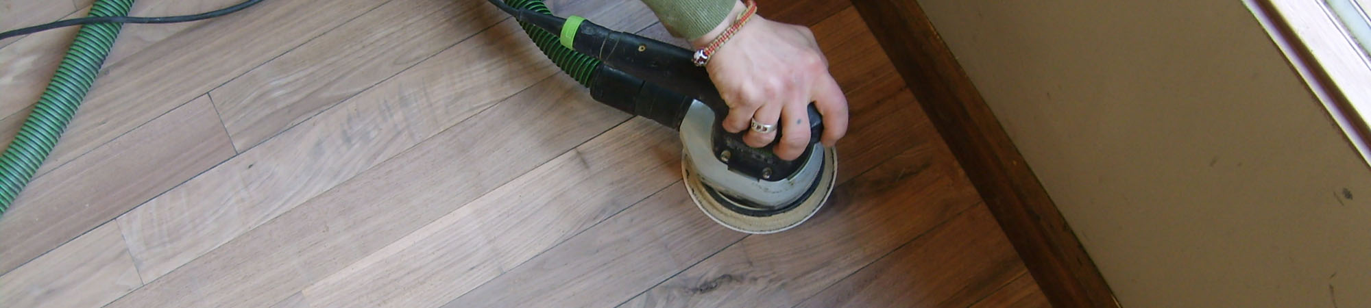 buffing wooden floors